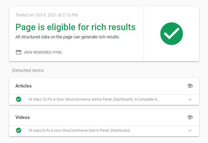 Rich Results Validation